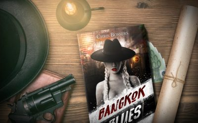 Chris Bossers op de boekenbeurs met Bangkok Blues